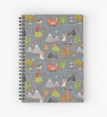 Forest Cute Animals Spiral Notebook