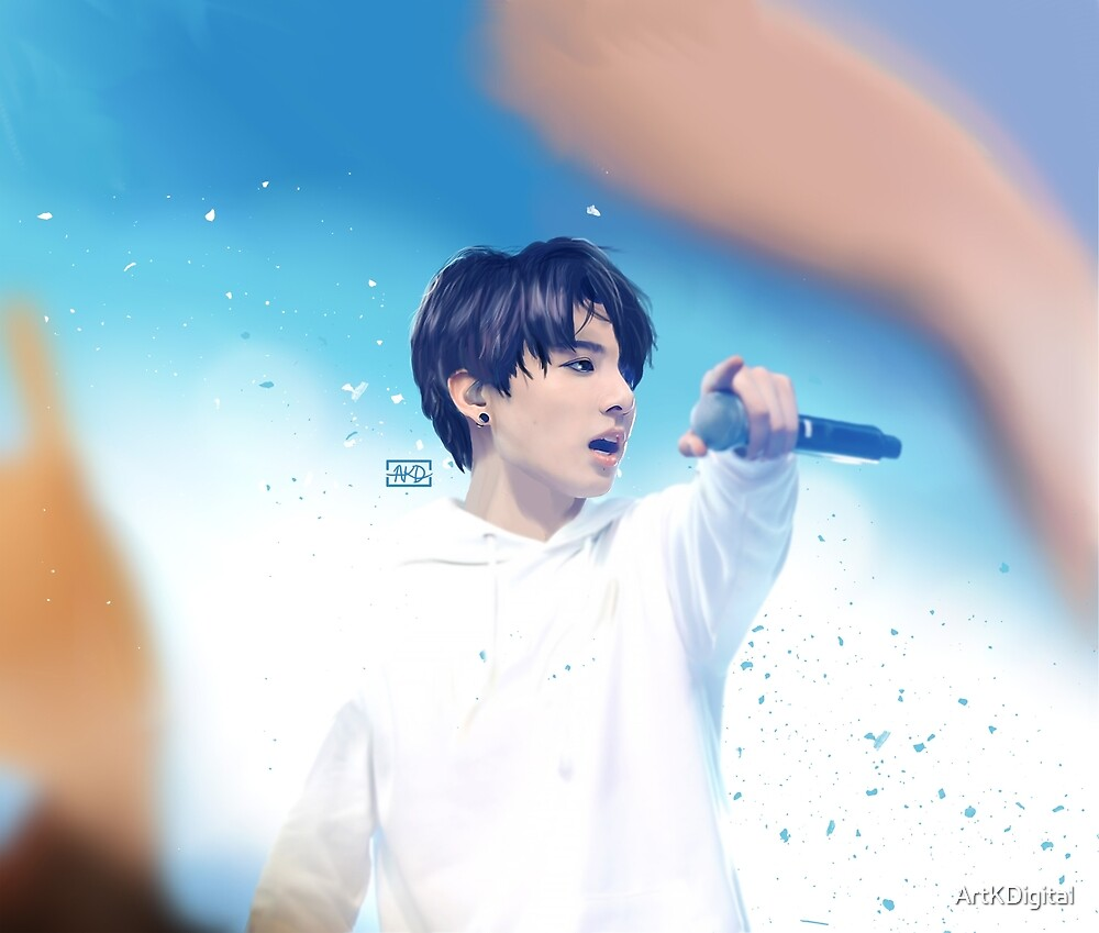 BTS- JungKook, Digital Painting by ArtKDigital