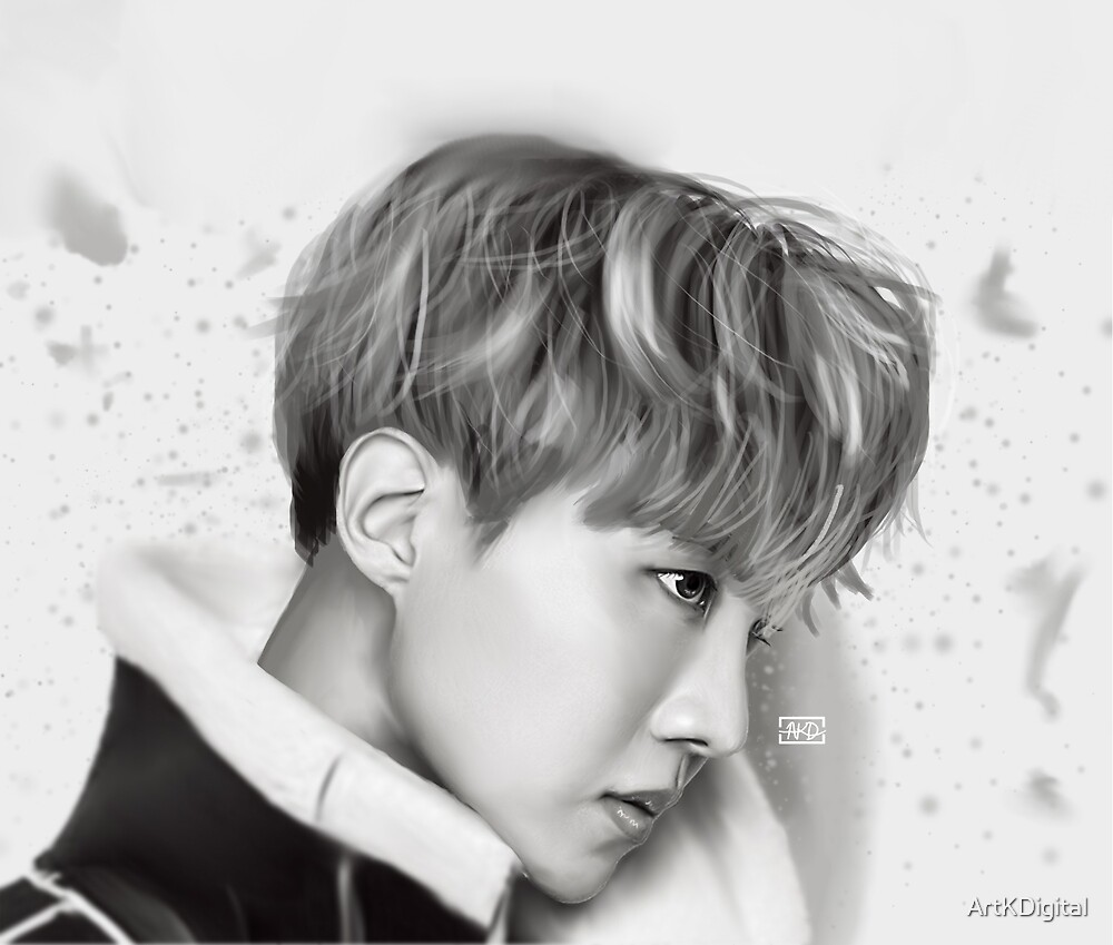 BTS- J Hope, Digital Painting by ArtKDigital