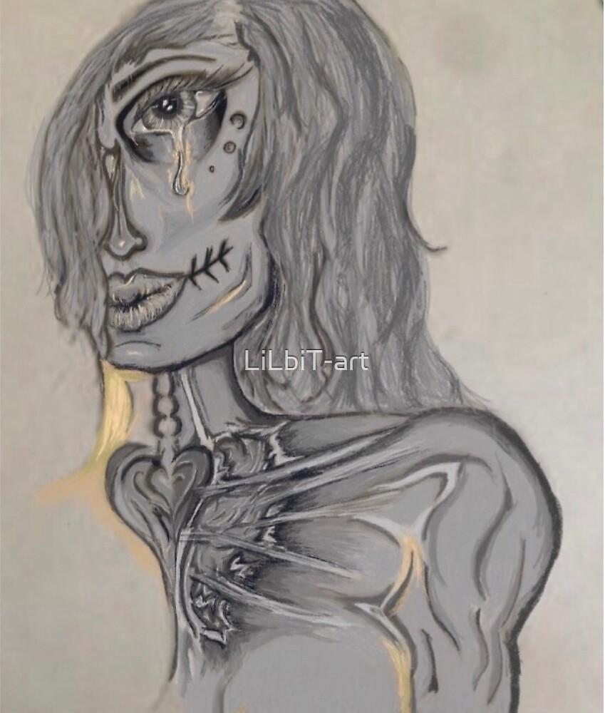 Los Muertos Corazon (Grey) by LiLbiT-art