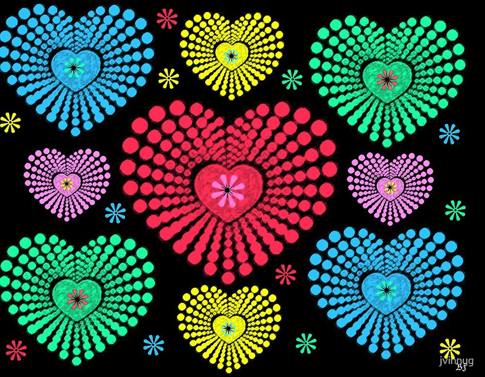 polka hearts by jvinnyg