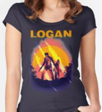 LOGAN Women's Fitted Scoop T-Shirt