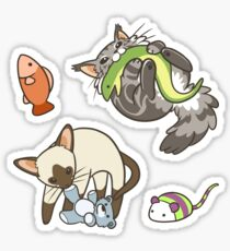 Cats and Toys Sticker