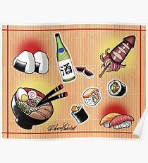 Japanese Food Flash Sheet Poster
