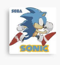 Sonic The Hedgehog - Classic Sonic Canvas Print