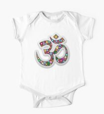 Namaste Floral Yoga Symbol  One Piece - Short Sleeve