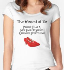 Wizard of Oz Dorothy's Shoes Women's Fitted Scoop T-Shirt