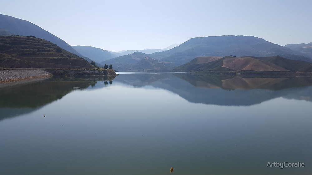 Second Reflections at Potami Dam in Crete by ArtbyCoralie