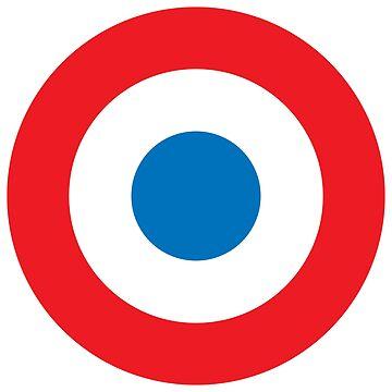 BULLS EYE, AIR FORCE, ROUNDEL, RED, WHITE, BLUE, Target, by TOMSREDBUBBLE