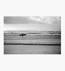 Black and white Surfer Photographic Print