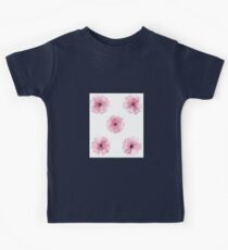 Pink Watercolor Flower Kids Clothes