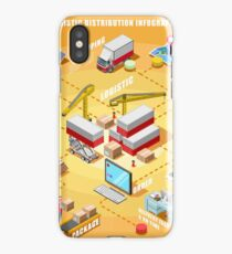 Export Trade Logistics Infographic Icons iPhone Case
