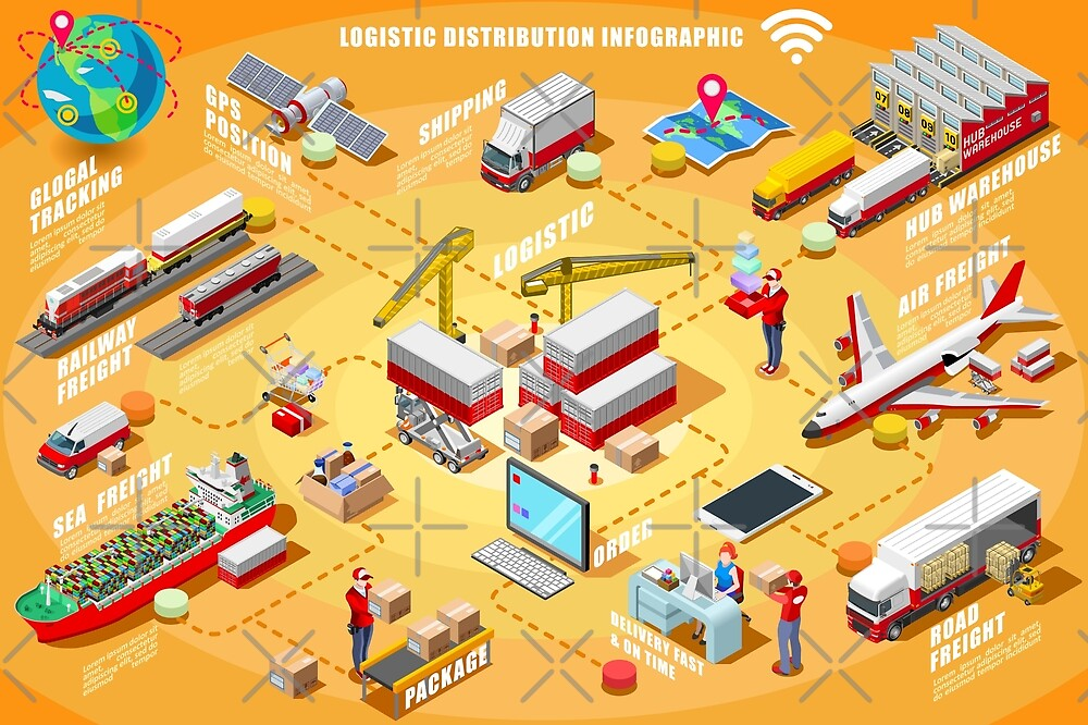 Export Trade Logistics Infographic Icons by aurielaki