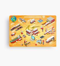 Export Trade Logistics Infographic Icons Metal Print