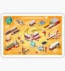 Export Trade Logistics Infographic Icons Sticker