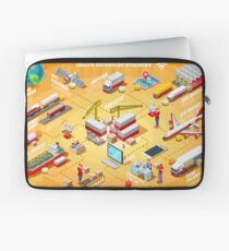 Export Trade Logistics Infographic Icons Laptop Sleeve
