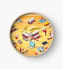 Export Trade Logistics Infographic Icons Clock