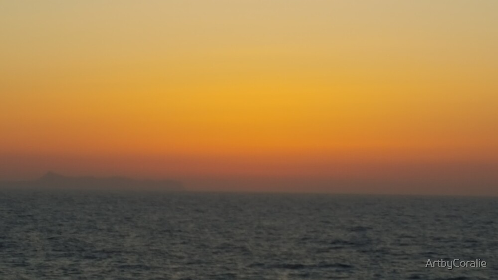 Crete sunset over the sea by ArtbyCoralie