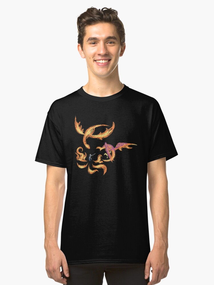 Novaborn Fire Puppet Show - Two Dragons Classic T-Shirt Front