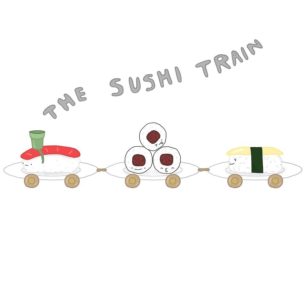 The Sushi Train by Erinzozo