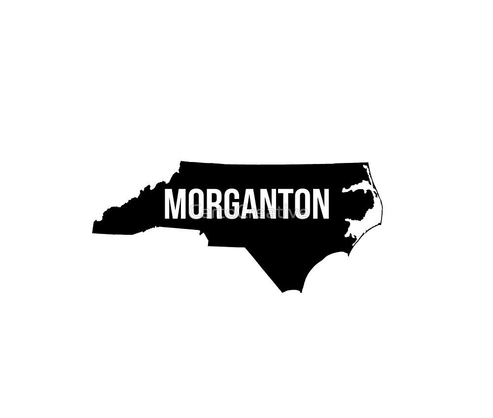 Morganton, North Carolina Silhouette by CartoCreative