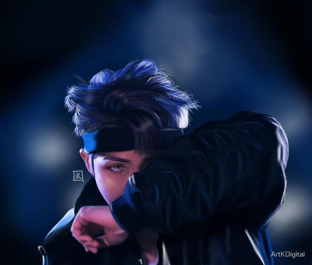 Rap Monster- Digital Painting by ArtKDigital