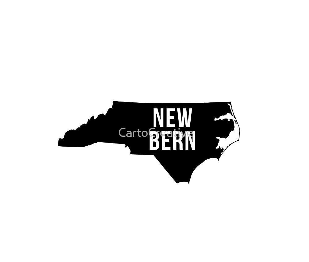 New Bern, North Carolina Silhouette by CartoCreative