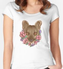 Flowers and a Fossa Women's Fitted Scoop T-Shirt
