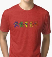 Grateful dead dancing bears sticker Tri-blend T-Shirt