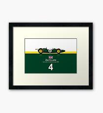 Jim Clark - Lotus 25 Framed Print