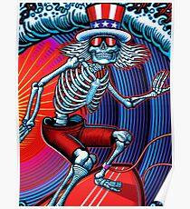dead head surfer art Poster