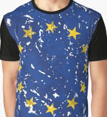 European Union Grunge Vintage Flag Graphic T-Shirt