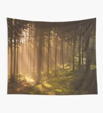 Morning forest Wall Tapestry
