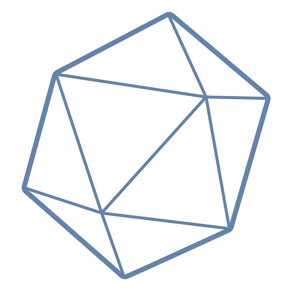 Geometric Blue d20 by MrMatthew