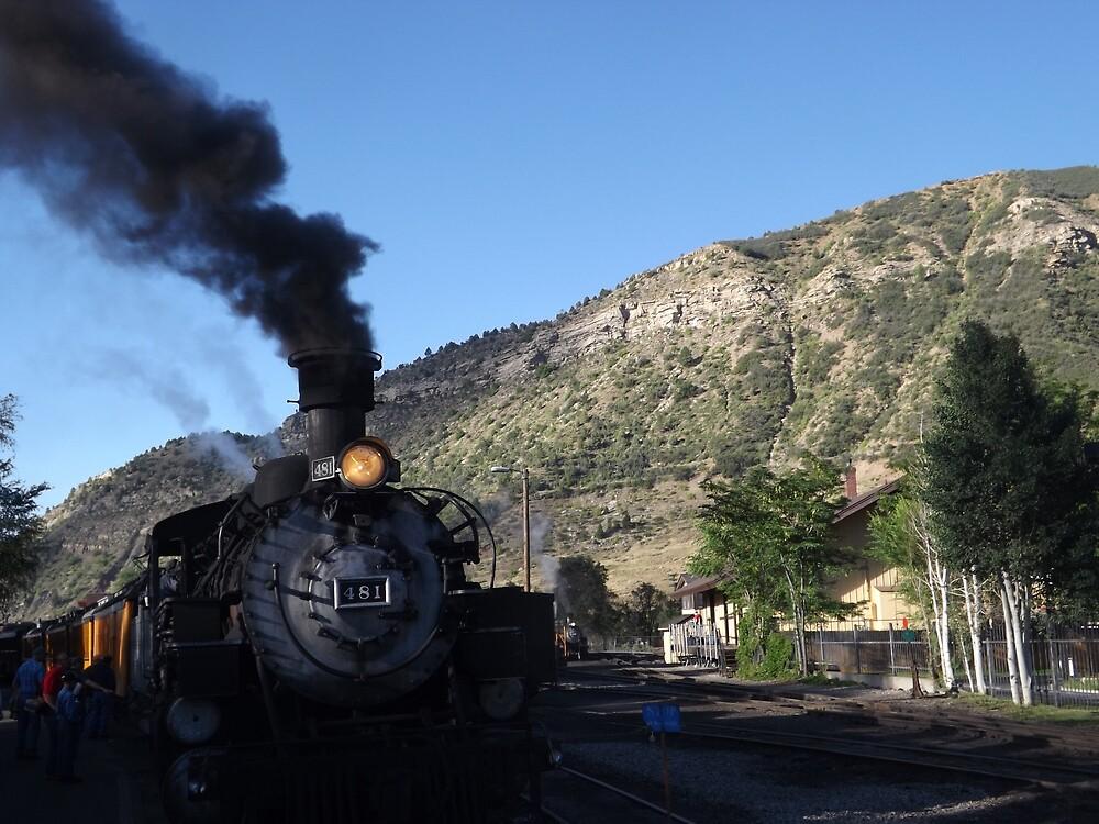 Classic Locomotive, Durango, Colorado  by lenspiro