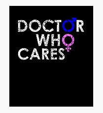 DOCTOR 13 WHO CARES MALE FEMALE TIME SYMBOL TEE Photographic Print