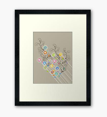 My Groovy Flower Garden Grows Framed Print