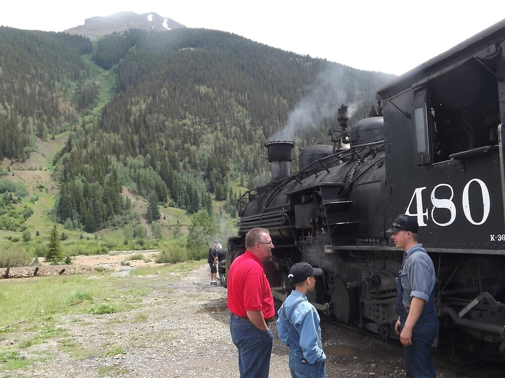 Classic Locomotive, Silverton, Colorado  by lenspiro