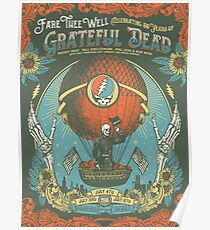 Grateful dead fare thee well 50 years poster Poster