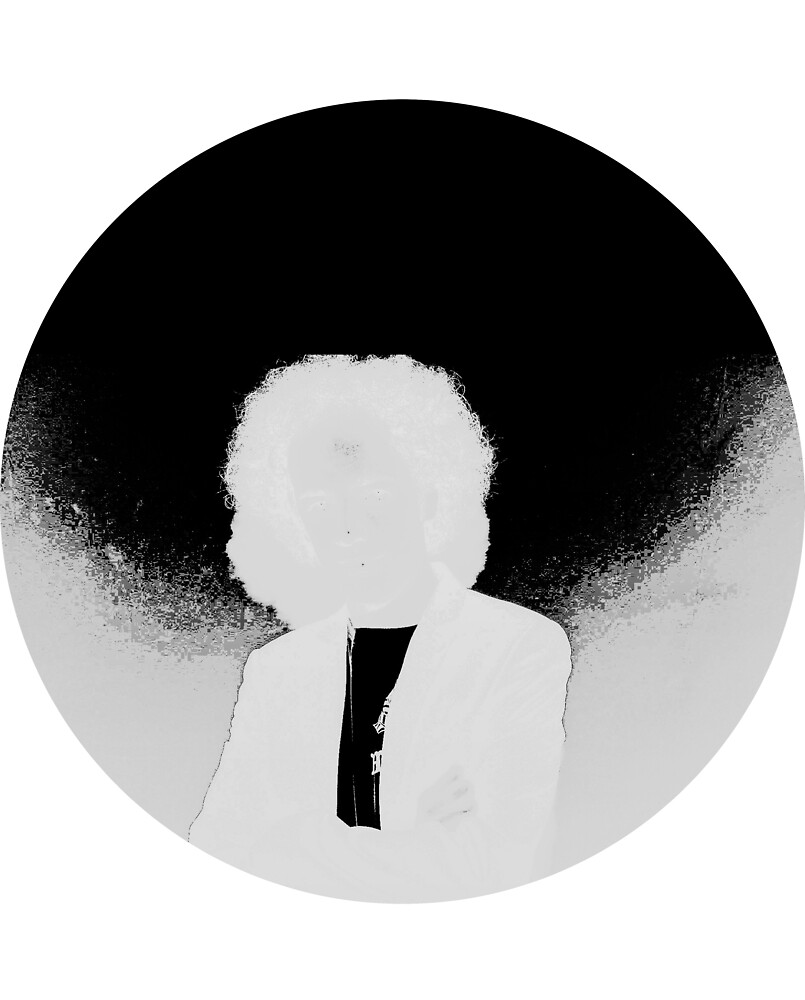 Glitched Man (circle) by Drywrites