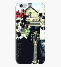 Grateful dead art poster skeletons painting iPhone Case