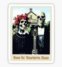 Grateful dead art poster skeletons painting Sticker