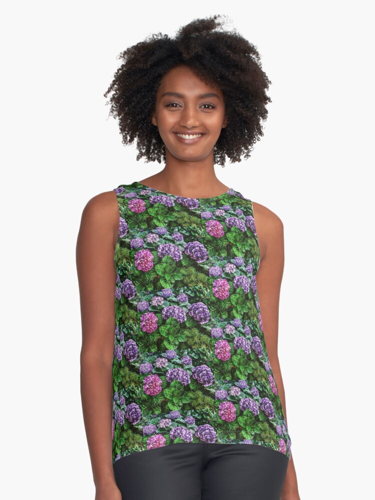 multicolored beauty Contrast Tank Front