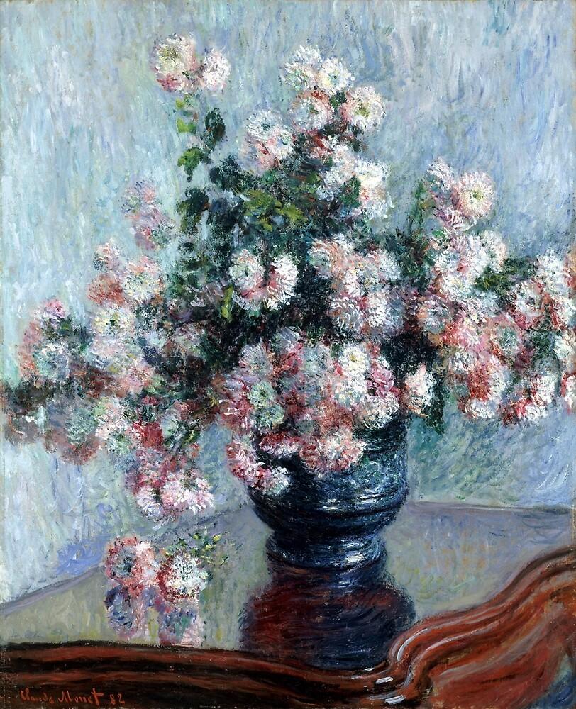Claude Monet Chrysanthemums by pdgraphics