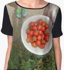 bowl of garden tomatoes 07/26/17 Chiffon Top