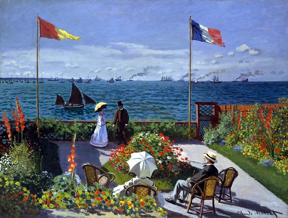 Claude Monet Garden at Sainte-Adresse by pdgraphics