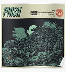 POSTER PHISH,  July 21, 2017 Madison Square Gareden, August 06 2017 New York City, NY. USA Poster