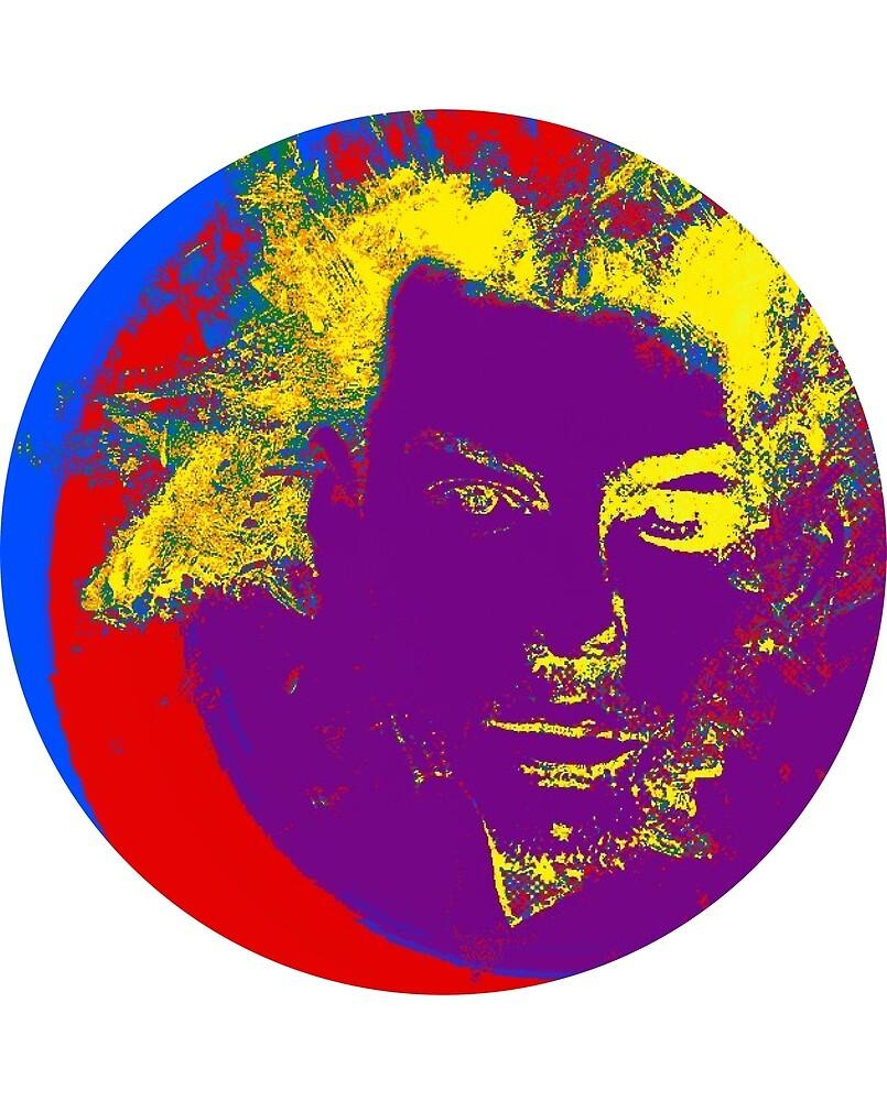 Glitch Face (circle) by Drywrites