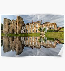 Tonbridge Castle Reflections Poster