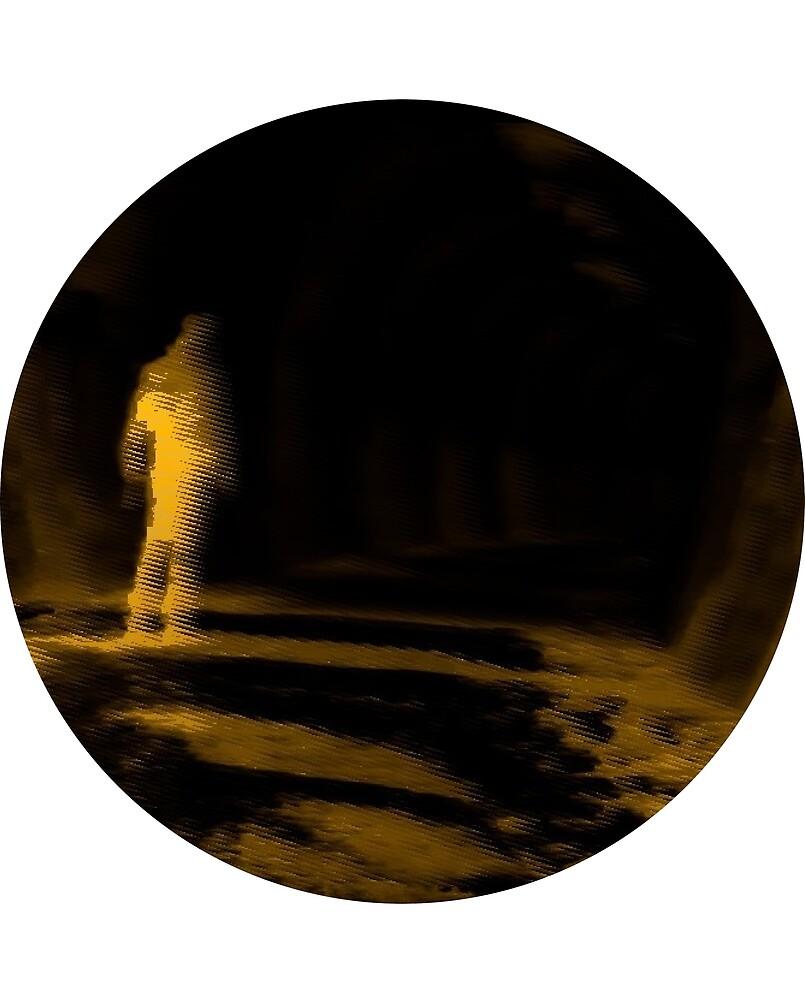 Tunnel Man (circle) by Drywrites